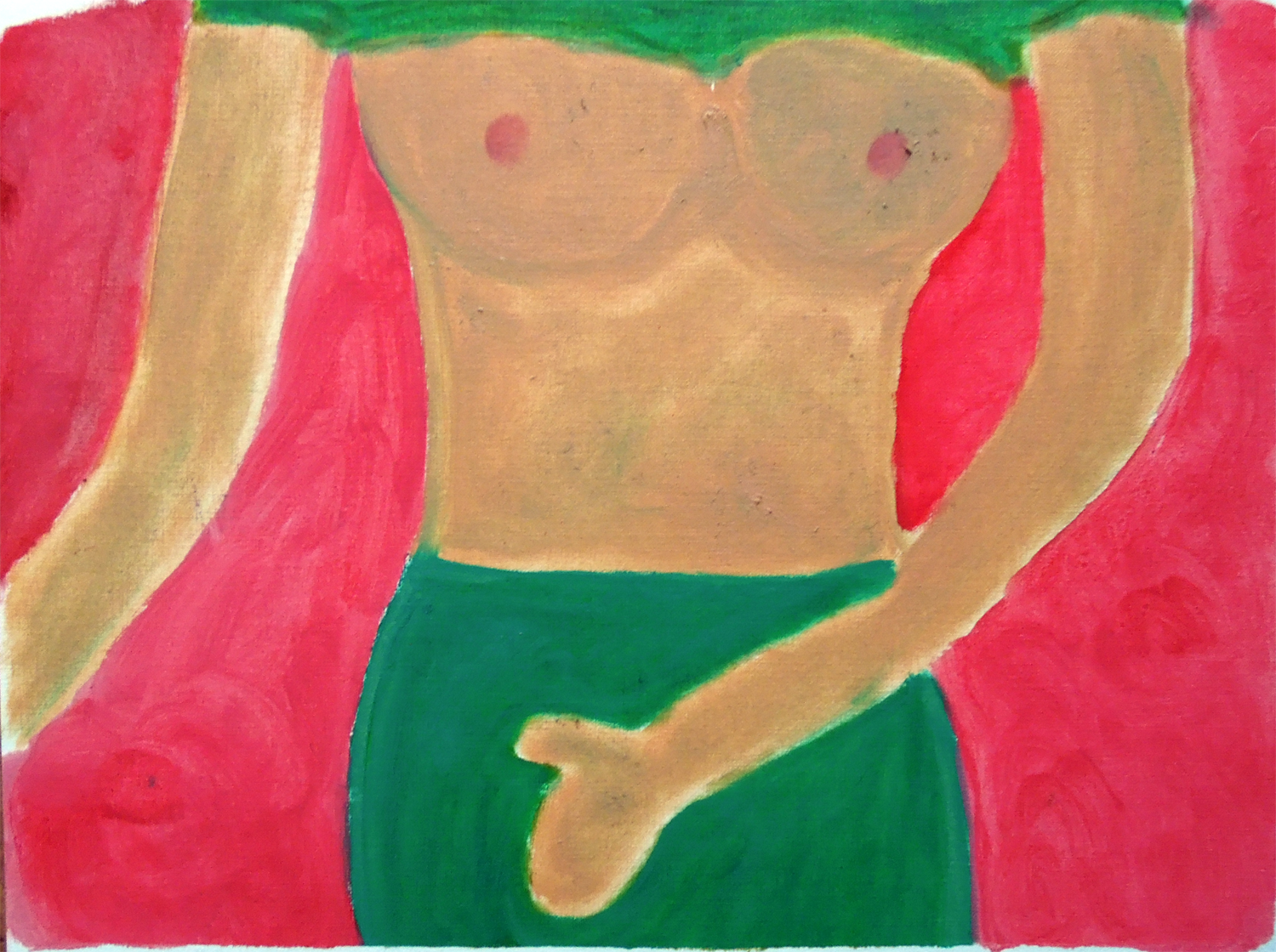 female- erotica -oil -painting on paper